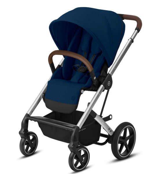 Cybex Balios S Lux Travel System Package - Silver Frame/Navy Blue
