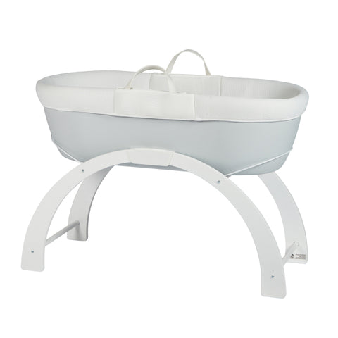 Shnuggle Dreami Moses Basket - Pebble Grey