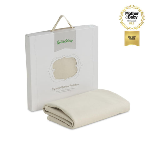 Little Green Sheep Organic Cotbed Mattress Protector