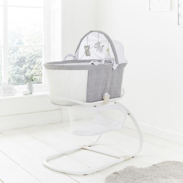 PurFlo PurAir Breathable Bassinet - Grey Marl