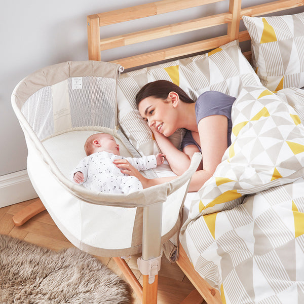 Purflow PurAir Keep Me Close Bedside Crib - Natural