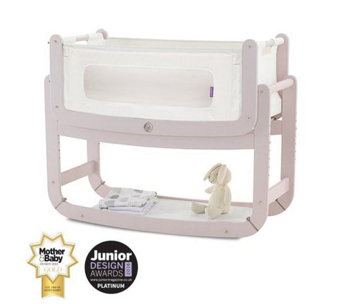 Snuzpod2  Bedside Crib and Mattress - Blush