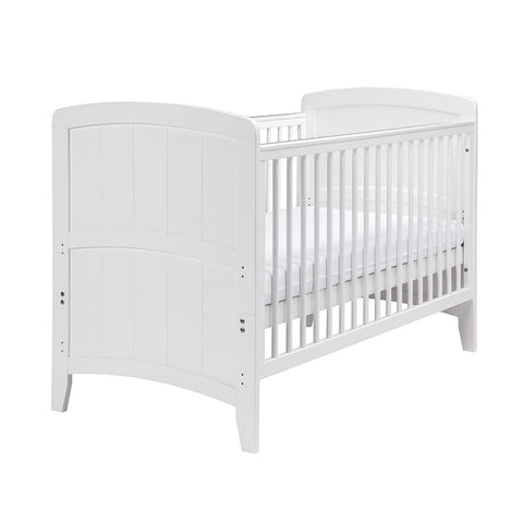 East Coast Venice Cotbed - White with East Coast Sprung Mattress