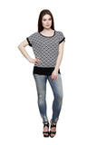 Renka Poly Cotton Black Summer Tops For Women