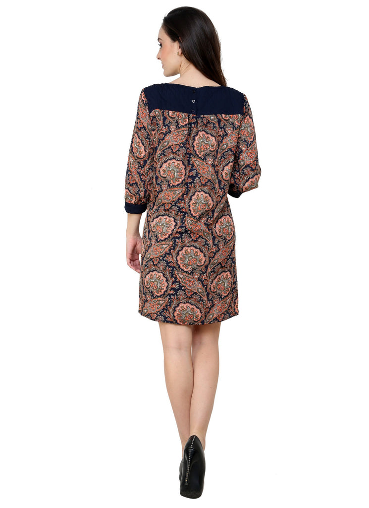 Renka Printed Multi Dress for Women-Pg 16-Navy-org
