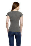 Renka Comfortable Grey Color Seamless Summer Tops for Women