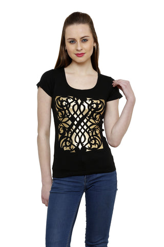 Renka Comfortable Black Color Seamless Summer Tops for Women