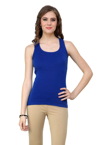 Renka Comfortable,Durable Bright blue Color Camisole/Tank Tops for Women