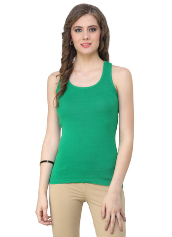Renka Comfortable,Durable Bottle green Color Camisole/Tank Tops for Women