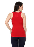 Renka Lycra Cotton Grey Red Sleeveless Women Camisole (Pack 2)