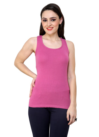 Renka Comfortable,Durable Light pink Color Camisole/Tank Tops for Women