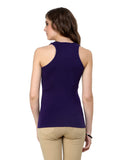 Renka Lycra Cotton Maroon Dark Blue Solid Plain Women Camisole (Pack 2)