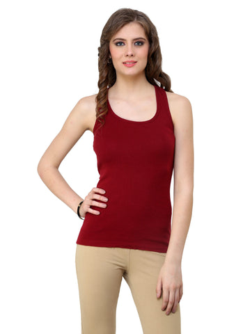 Renka Comfortable,Durable Maroon Color Camisole/Tank Tops for Women