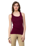 Renka Comfortable Maxwine Color Camisole Summer Tank Tops for Women