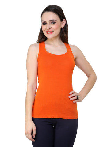 Renka Comfortable,Durable Orange Color Camisole/Tank Tops for Women