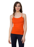Renka Lycra Cotton Grey Orange Sport Wear Women Camisole (Pack Of 2)