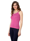 Renka Comfortable Pink Color Camisole Summer Tank Tops for Women