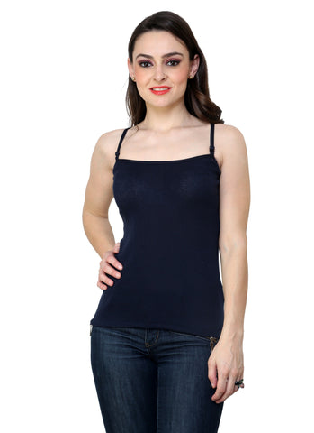 Renka Comfortable,Durable Navy Color Camisole/Tank Tops for Women