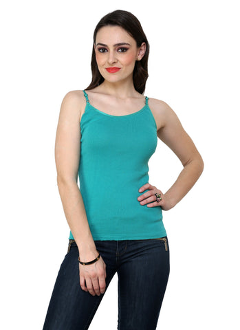 Renka Comfortable,Durable Z.green Color Camisole/Tank Tops for Women