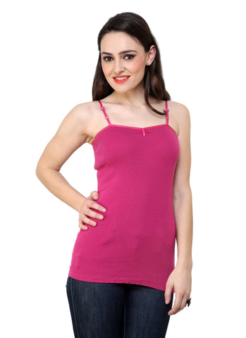 Renka Comfortable,Durable Bright pink Color Camisole/Tank Tops for Women