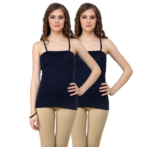 Renka Comfortable Dark move Color Camisole Summer Tank Tops for Women (Pack of 2)