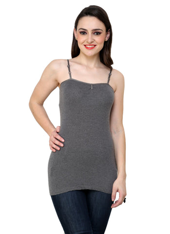 Renka Comfortable,Durable Grey Color Camisole/Tank Tops for Women