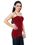 Renka Comfortable Maroon Color Camisole Summer Tank Tops for Women