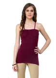 Renka Comfortable,Durable Maxwine Color Camisole/Tank Tops for Women-S3-Maxwine
