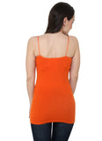 Renka Comfortable Orange Color Camisole Summer Tank Tops for Women
