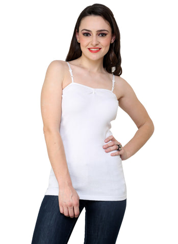 Renka Comfortable,Durable White Color Camisole/Tank Tops for Women