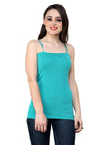 Renka Comfortable Z.Green Color Camisole Summer Tank Tops for Women