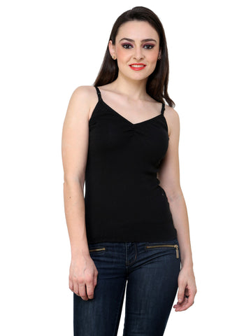 Renka Comfortable,Durable Black Color Camisole/Tank Tops for Women