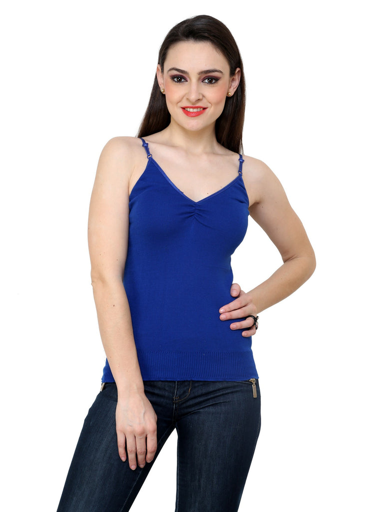 Renka Comfortable Blue Color Camisole Summer Tank Tops for Women