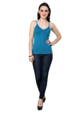 Renka Comfortable Teal Color Camisole Summer Tank Tops for Women (Pack of 2)