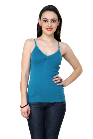 Renka Comfortable,Durable Teal Color Camisole/Tank Tops for Women