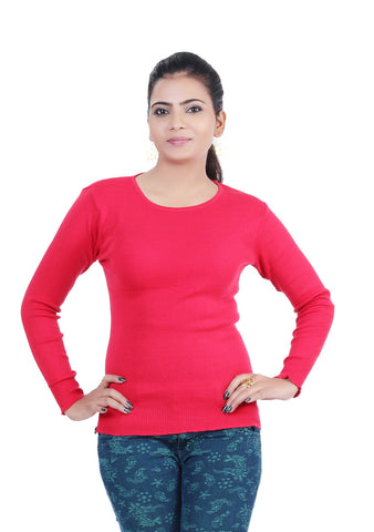 Renka Skivvy Round-neck Knitted Winter Tops