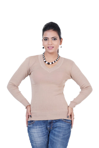 Renka Skivvy V-neck Knitted Winter Pullover