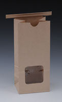 Poly Lined Gusseted Paper Bags - Window