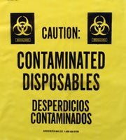 Contaminated Disposables Trash Liners