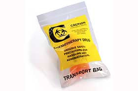 Chemotherapy Drug Transport Reclosable Bags