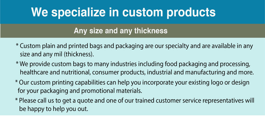 RKS Plastics specializes in custom products and custom bags in any size and thickness. Call us today for a quote!