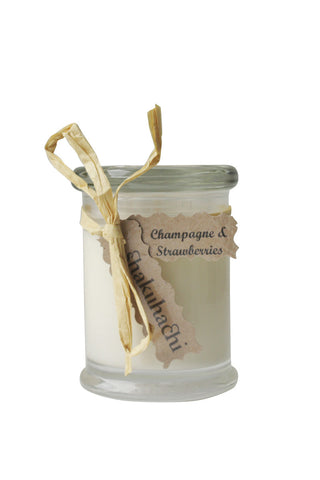 Champagne and Strawberry Candle