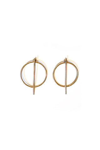 STUD SHIELD EARRING