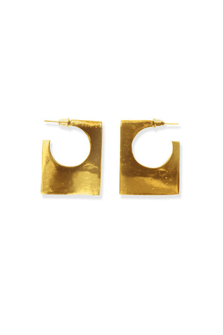 BLOCK SQUARE EARRING