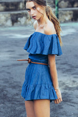 GENIE OFF THE SHOULDER FRILL PLAYSUIT
