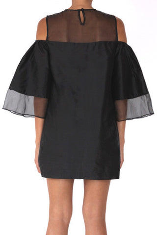 shakuhachi - LOULOU VOLUME SLEEVE DRESS BLACK - 3