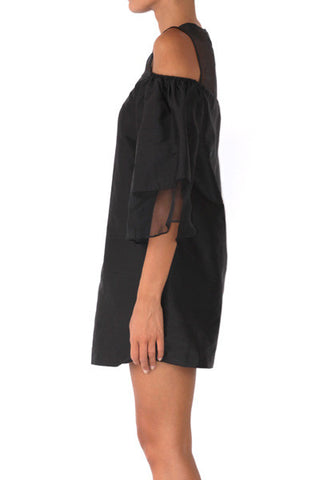 shakuhachi - LOULOU VOLUME SLEEVE DRESS BLACK - 4