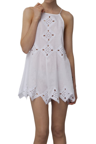 shakuhachi - DIAMOND IN THE SKY PLAYSUIT WHITE - 3
