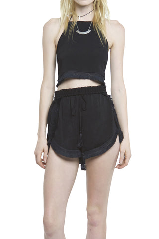 shakuhachi - FIFI TASSEL CROP TOP BLACK - 4