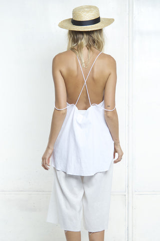 DOUBLE STRAP CAMI FLARE TOP